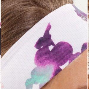 Lululemon Lucky Luon Headband Floral Pattern